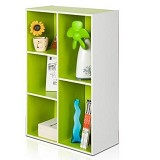 FUNIKA 5 Cube Bookcase [13226] - White/Green